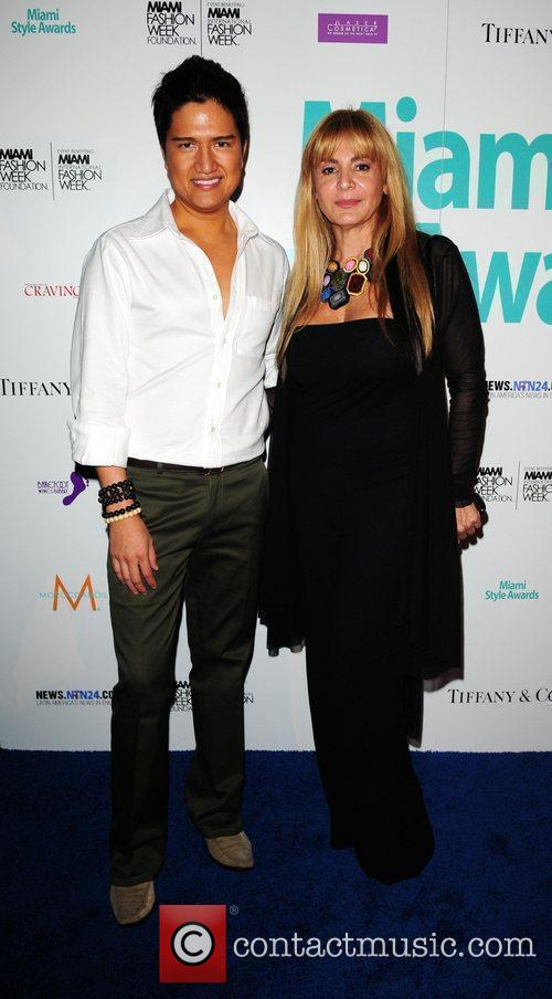 Fashion designers Julian Chang and Vviana Gabeiras...