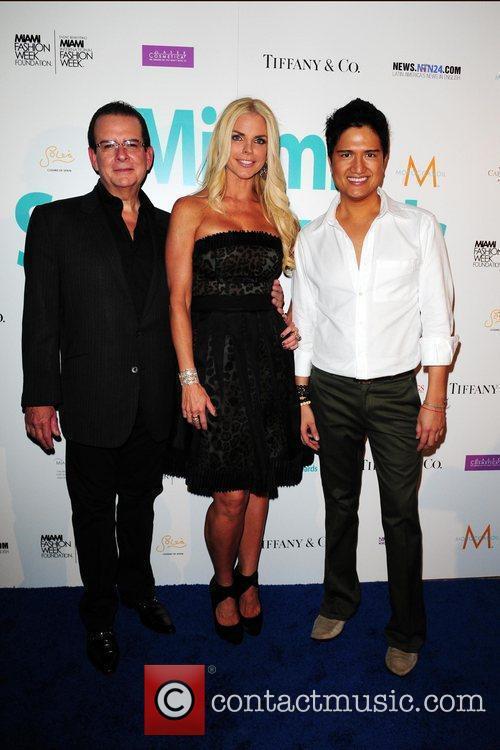 Herman Echevarria, Alexia Echevarria and Fashion designer Julian...