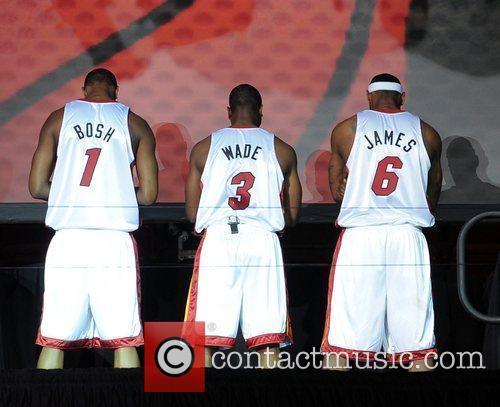 Chris Bosh, Dwyane Wade and LeBron James NBA's...