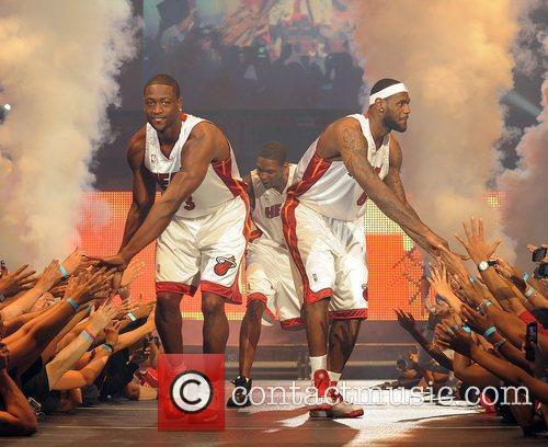 NBA's Miami Heat welcome party at the American...