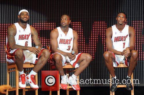 LeBron James, Dwyane Wade and Chris Bosh NBA's...