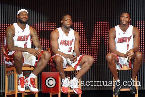 Lebron James, Dwyane Wade and Chris Bosh 9