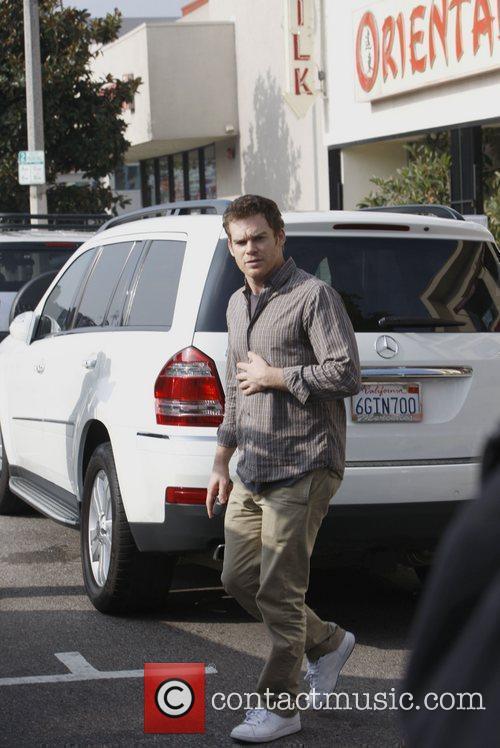 Michael C. Hall  is seen leaving Kings...