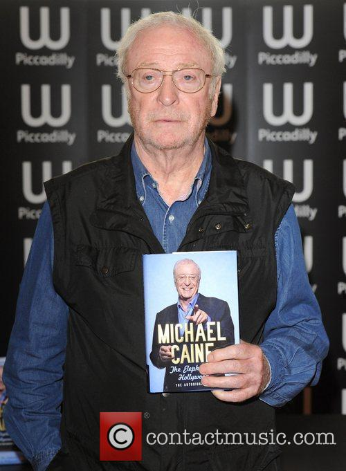 Michael Caine signs copies of his book 'The...