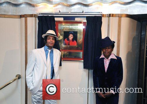 The unveiling of a Michael Jackson plaque at...