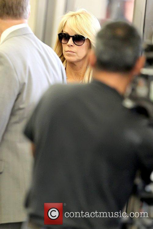 Dina Lohan arriving at Beverly Hills Courthouse for...