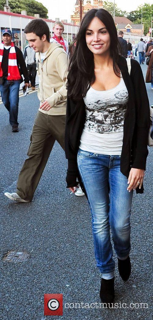 Italian model and actress Michela Quattrociocche, the fiancee...
