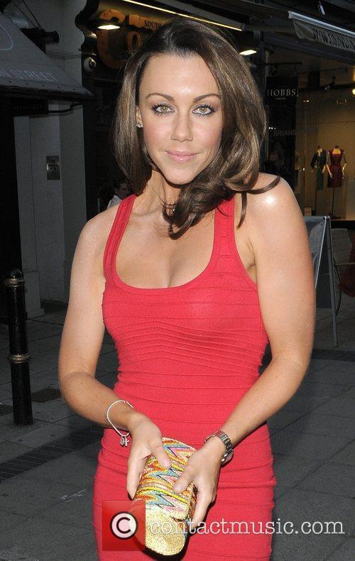 Michelle Heaton arriving at Molton House London, England