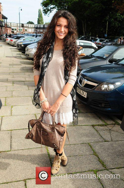 Michelle Keegan arrives at Hoopers Department Store in...