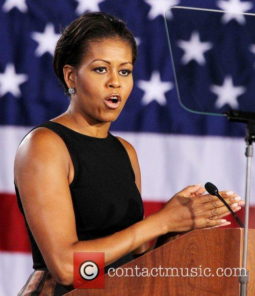 First Lady Michelle Obama speaks at Canyon Springs...