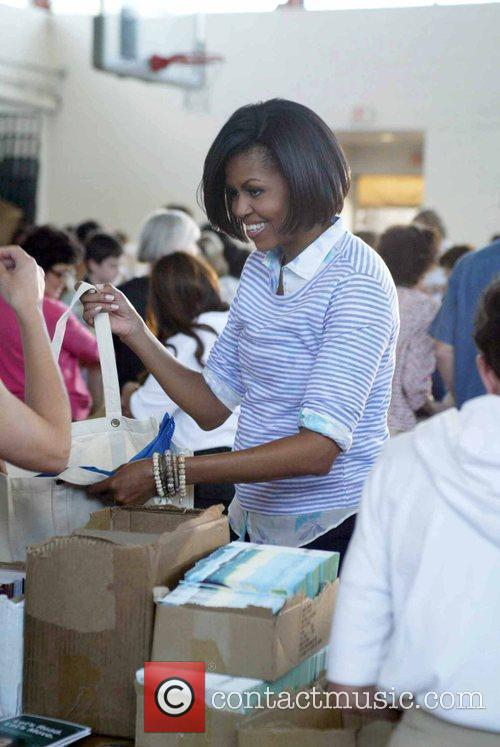 First Lady Michelle Obama hosted a Congressional Service...
