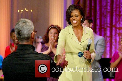 US First Lady Michelle Obama  speaks in...