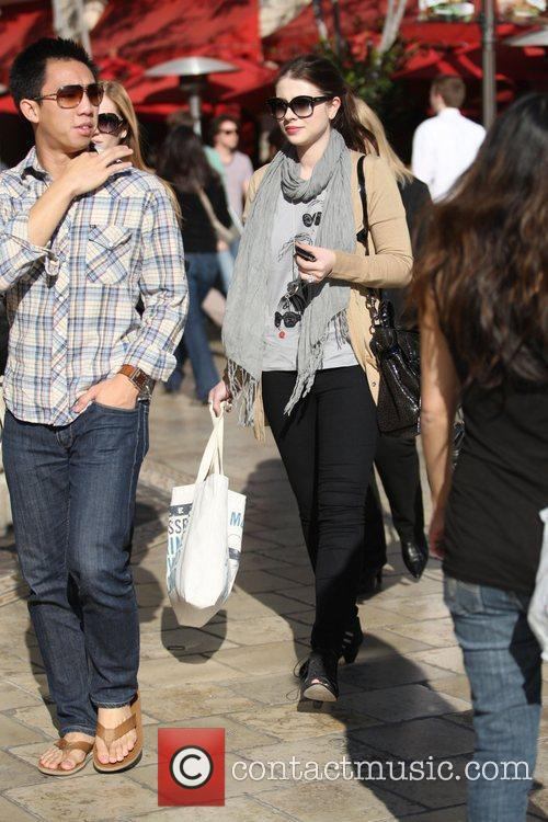 Michelle Trachtenberg was spotted shopping at The Grove...