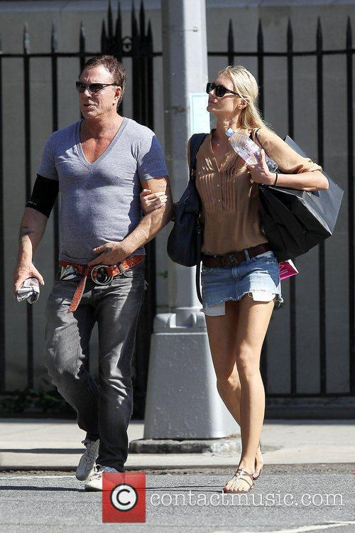 Mickey Rourke and girlfriend Anastassija Makarenko shopping together...