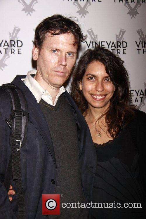 Will Eno (playwright) and Sarah Stern Opening night...
