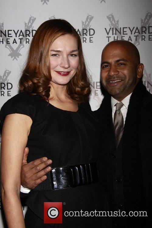 Heather Burns and Ajay Naidu