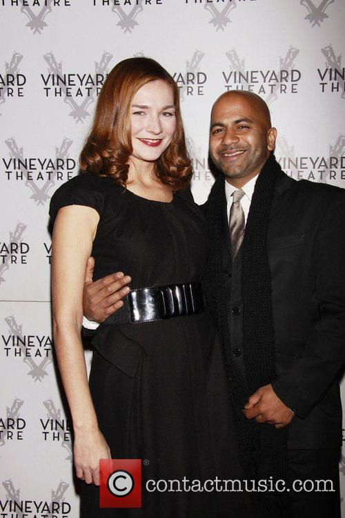 Heather Burns and her husband Ajay Naidu Opening...