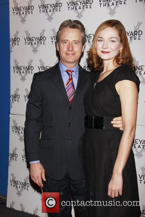 Linus Roache and Heather Burns