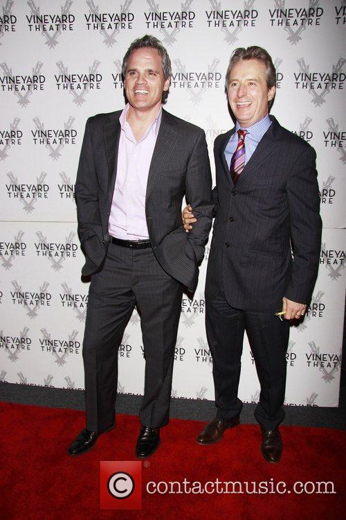 Michael Park and Linus Roache Opening night of...