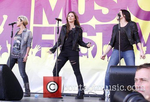 Singers Jodie Albert, Sharon Condon and Corrina Durran...