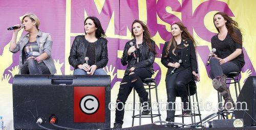 Singers Jodie Albert, Sharon Condon, Corrina Durran and...