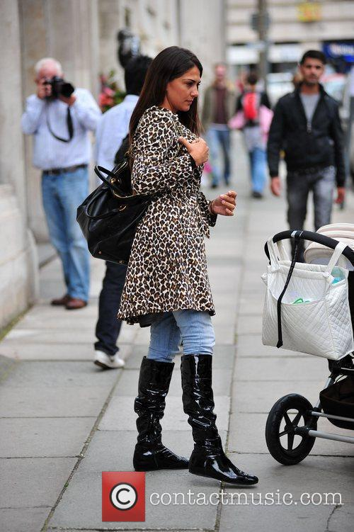 Lorena Bernal in central Liverpool with her footballer...