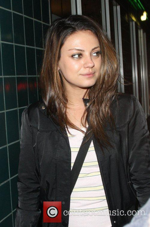 Mila Kunis leaves The Wiltern Theatre Los Angeles,...