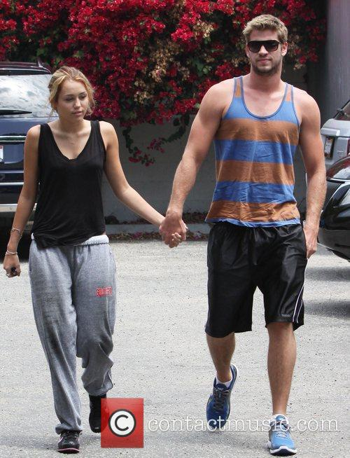 Miley Cyrus and her boyfriend were spotted heading...