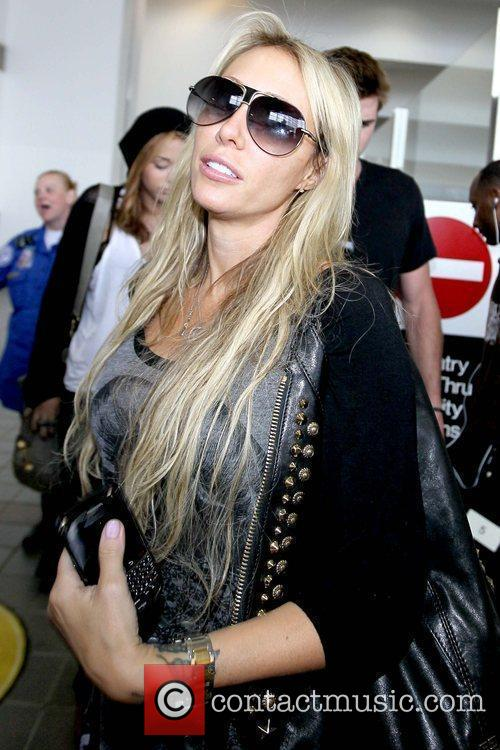 Tish Cyrus arrives at LAX airport on a...