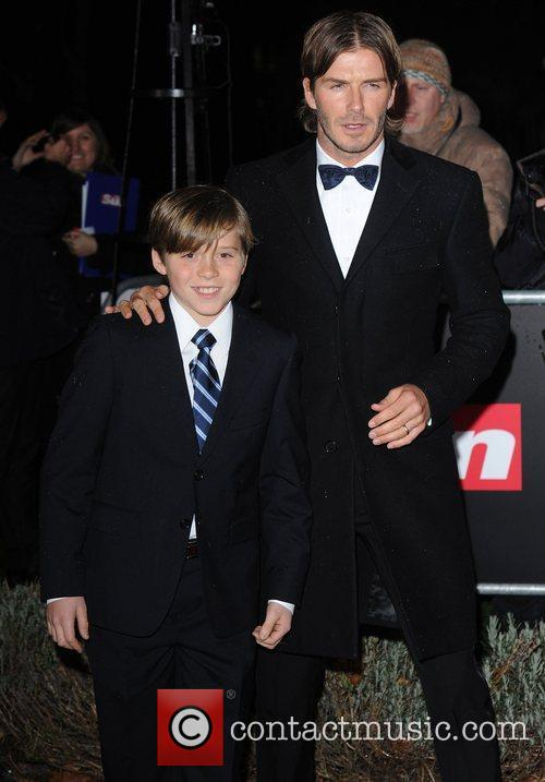 David Beckham and Brooklyn 8