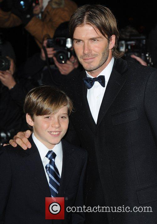 David Beckham and Brooklyn 7