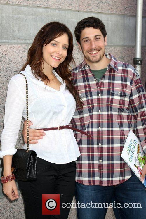 Jason Biggs with his wife Jenny Mollen Milk...