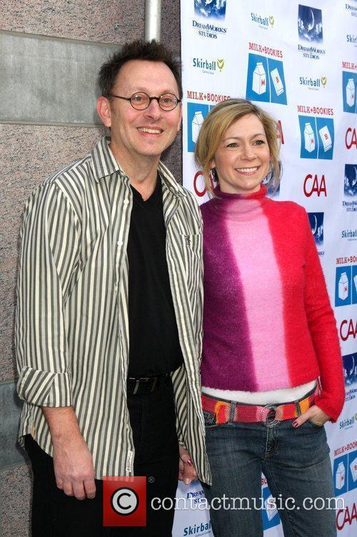 Michael Emerson and Carrie Preston Milk and Bookies...