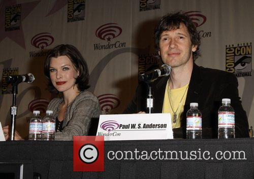 Milla Jovovich and Paul W. S. Anderson promoting...