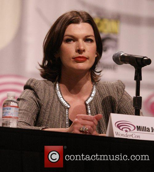 Milla Jovovich promoting the new movie Resident Evil:...