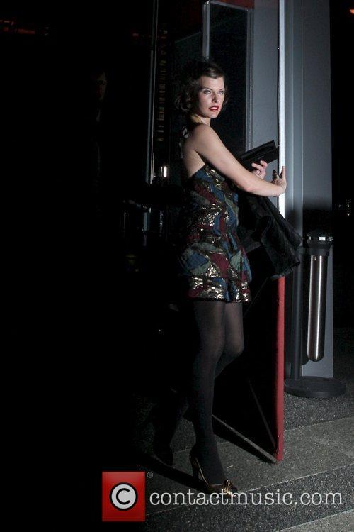 Milla Jovovich leaves Boa Steakhouse restaurant Los Angeles,...