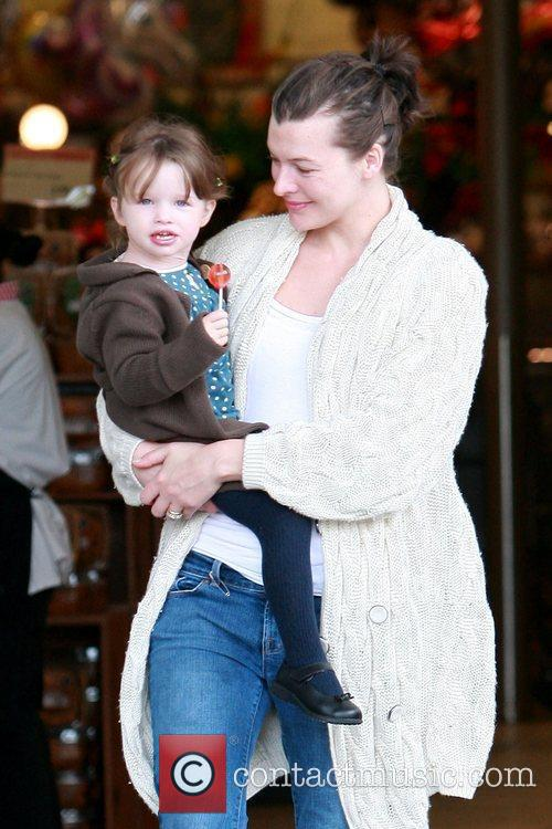 Milla Jovovich and her daughter Ever Gabo Anderson...