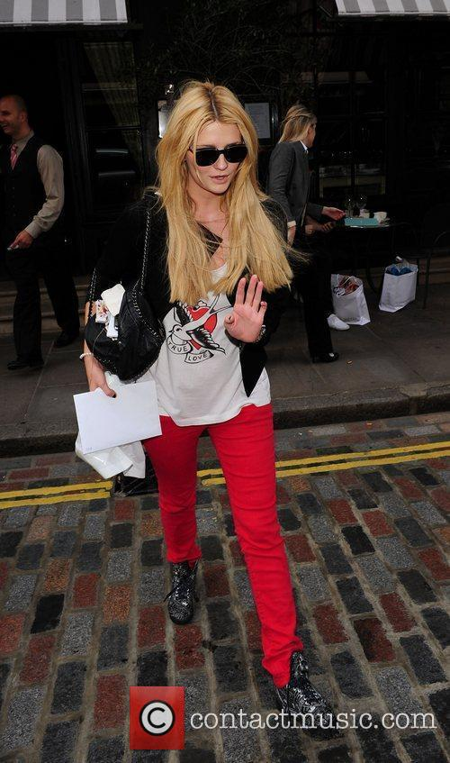 Mischa Barton leaving her hotel in central London....