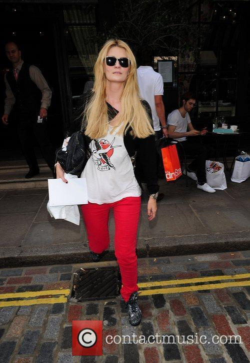 Leaving her hotel in central London.