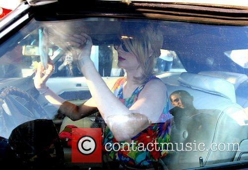 Mischa Barton  gets into her car after...