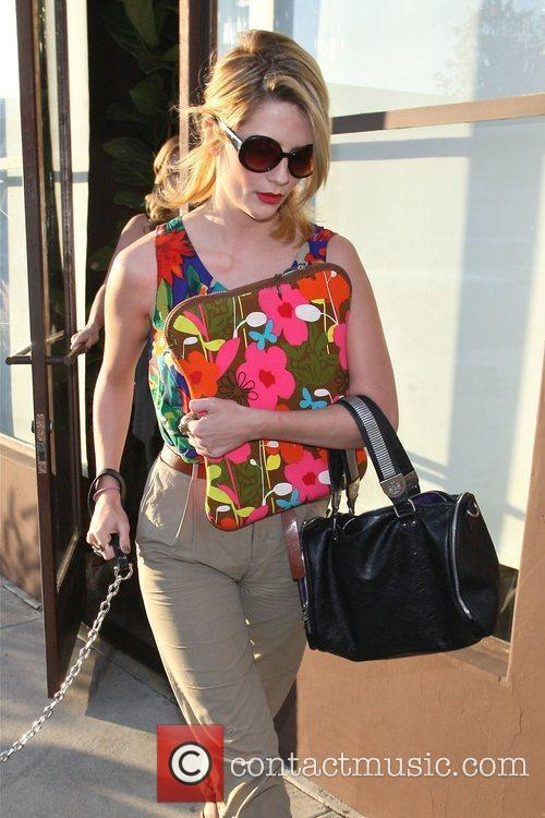 Leaving the Warren-Tricomi salon in West Hollywood with...