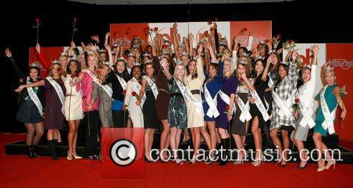 2010 Miss America contestants arrive at Planet Hollywood...