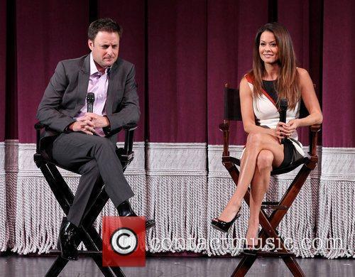 Chris Harrison and Brooke Burke Miss America press...