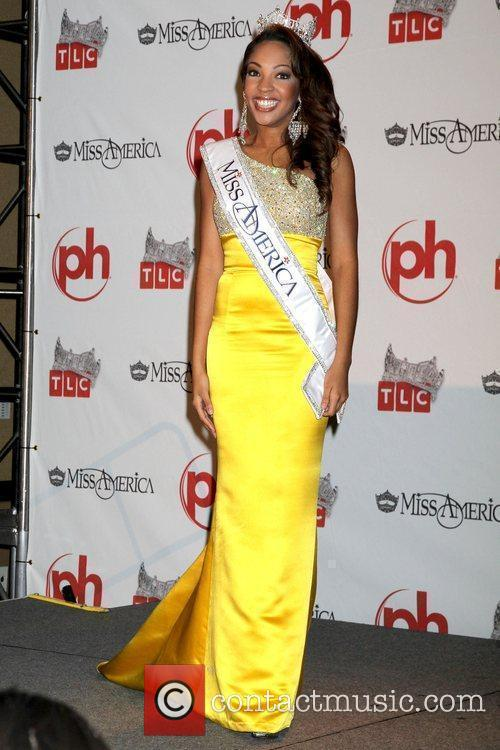 2010 Miss America Pageant winner press conference at...
