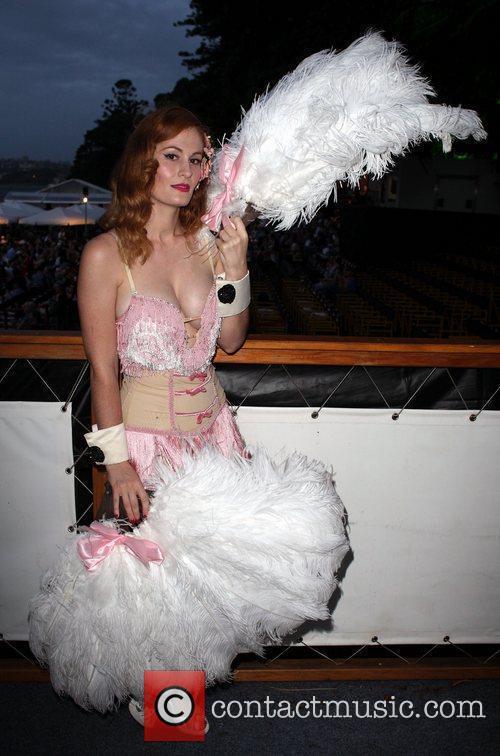 Miss Burlesque Australia 2010, Rita Fontaine, poses for...