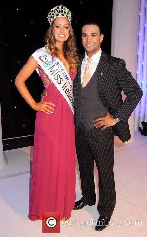 Miss Ireland 2010 Emma Waldron and Kamal Ibrahim...