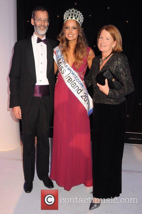 Miss Ireland 2010 Emma Waldron with Dad Michael...