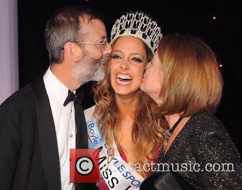 Miss Ireland 2010 Emma Waldron with her Dad...