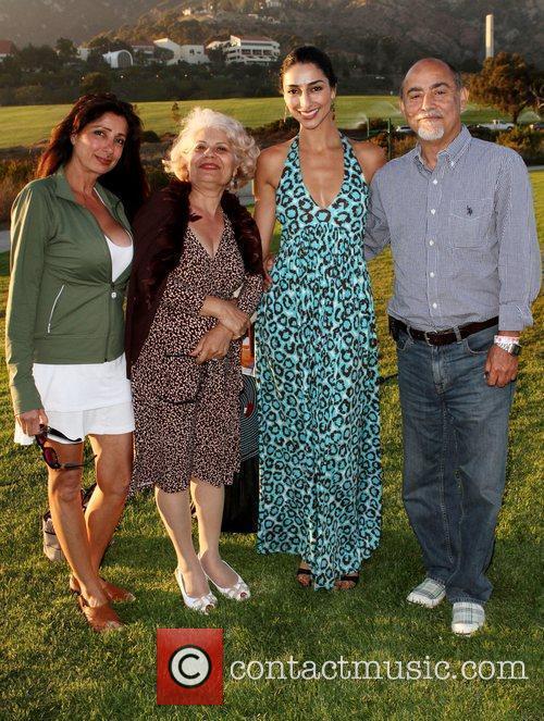 Necar Zadegan with her Family Miss Malibu Pageant...