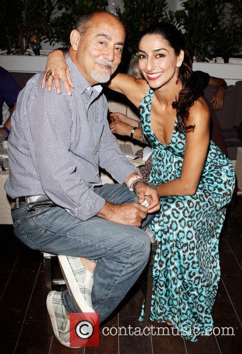 Necar Zadegan with her Father Miss Malibu Pageant...